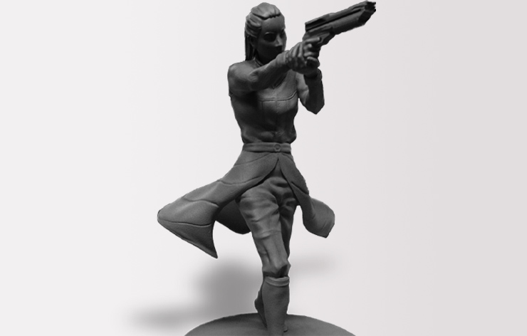 SLA 3D Printed Gaming Figurines